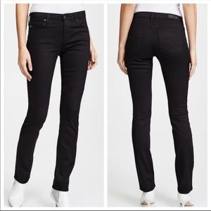 AG The Harper Essential Straight Black Jeans 26R